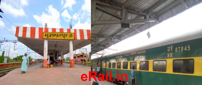 Muzaffarpur to delhi train number
