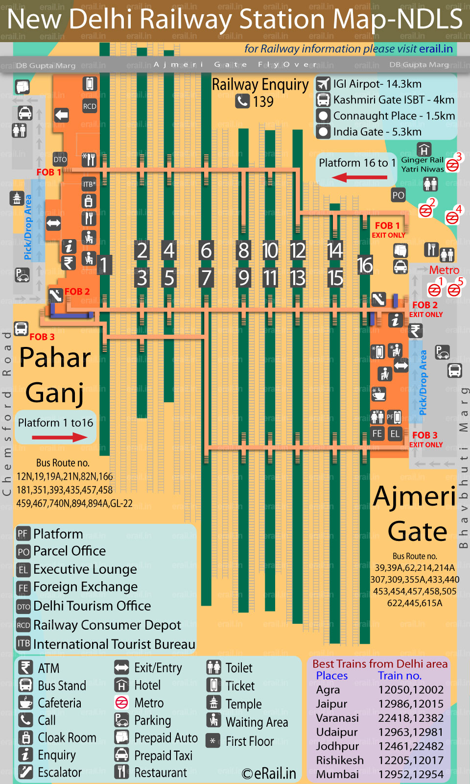 Delhi Railway Map New Delhi Railway Station Map Delhi Railway Map