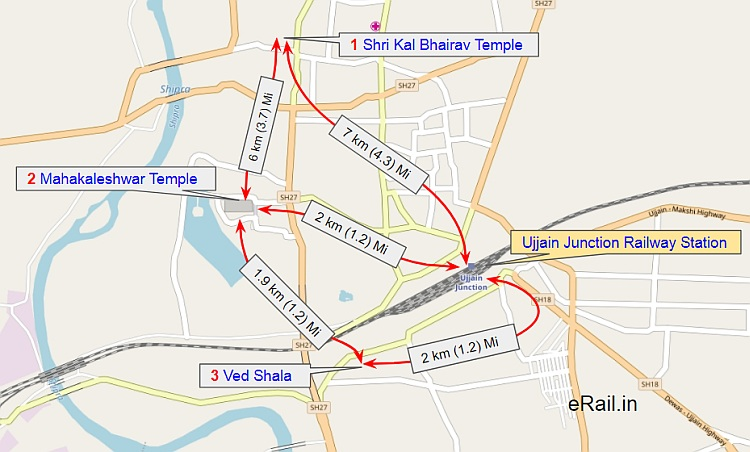 Ujjain India Map.Ujjain Railway Station